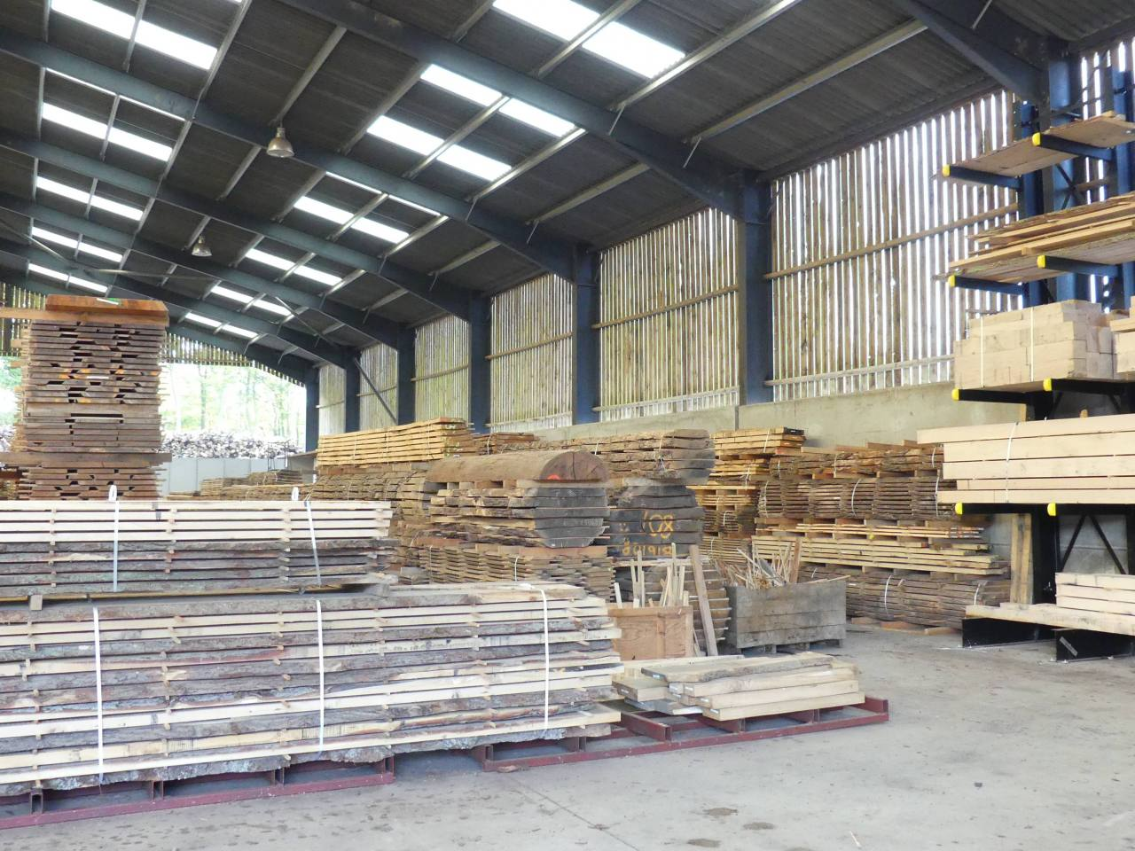 Large Selection of Hard and Softwoods